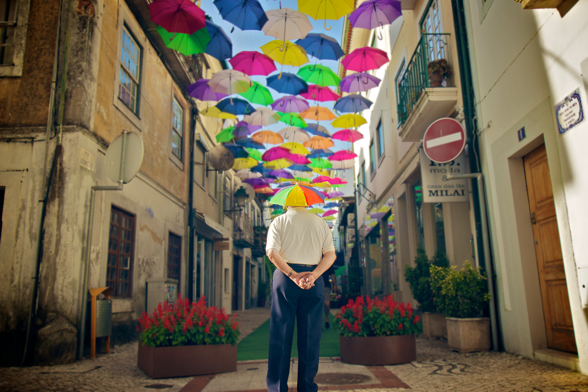 Agueda Portugal Aveiro photo parapluies umbrella couleurs cores colors frederico santos photographe