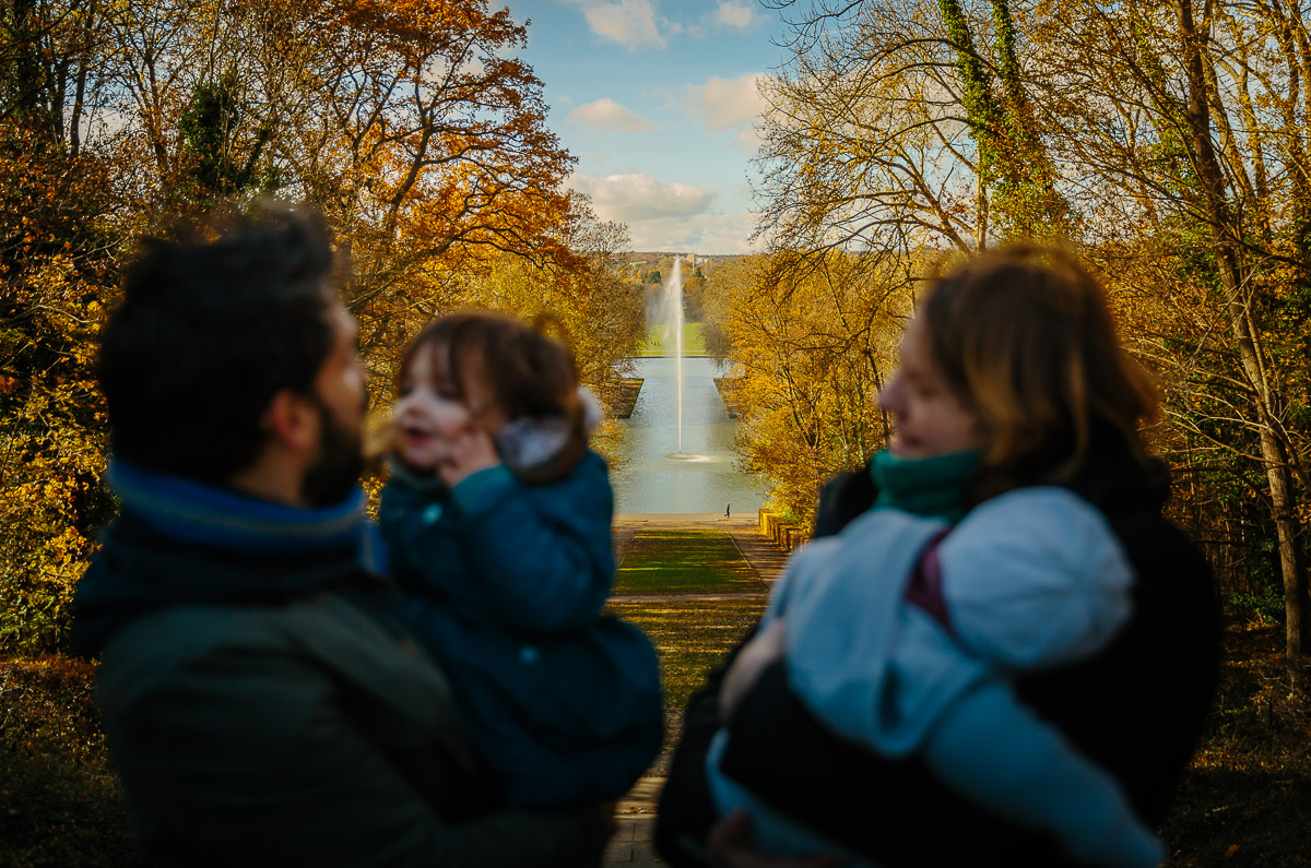 seance photo famille automne photographe enfant parc de sceaux antony haut de seine